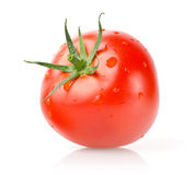 与下落的新鲜的蕃茄 免版税库存图片