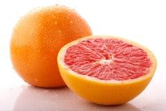 与下落的葡萄柚 免版税库存照片