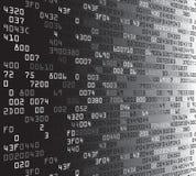 与不吉利的东西代码的灰色安全背景 免版税库存照片