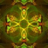 与不同和许多形状的五颜六色的抽象分数维墙纸 免版税库存照片