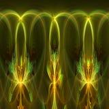 与不同和许多形状的绿色抽象分数维墙纸 免版税图库摄影