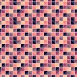 与不同的颜色正方形的抽象几何样式连接了象马赛克 向量例证