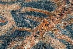 与不同的颜色许多优美的小卵石的织地不很细表面  库存图片