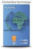 与不接触的技术的信用卡 免版税库存图片