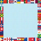 与世界的背景下垂框架 免版税图库摄影