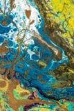 与丙烯酸漆的抽象创造性的被绘的背景 免版税库存图片