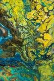 与丙烯酸漆的抽象创造性的被绘的背景 库存图片