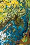 与丙烯酸漆的抽象创造性的被绘的背景 图库摄影