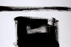与丙烯酸漆的黑白色抽象 库存照片
