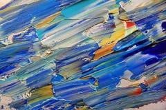 与丙烯酸酯的颜色的艺术抽象油漆 免版税图库摄影