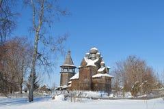 与东正教的冬天横向 图库摄影
