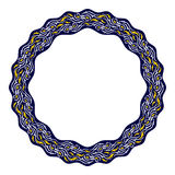 与东部动机的装饰圆的框架 免版税库存图片
