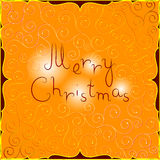 与东部样式的圣诞快乐明信片 库存照片