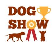与丝带似犬动物设计的狗展示奖 库存例证