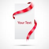 与丝带的可实现的礼品纸张 免版税库存图片