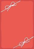 与丝带的桃红色框架 免版税库存照片