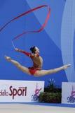 与丝带的Ganna Rizatdinova 免版税库存图片