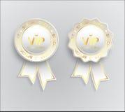与丝带的Vip标志人造白金 免版税图库摄影