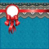 与丝绸丝带的种族装饰样式和 免版税库存照片