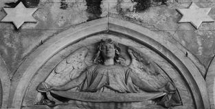 与两个星的天使形象 免版税图库摄影