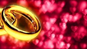 与两只金戒指的背景 免版税图库摄影