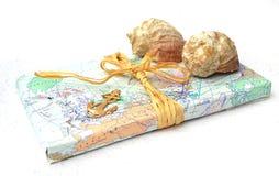 与两壳的老地图 库存图片