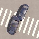 与两辆汽车的事故 图库摄影