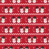 与两雪人的圣诞节样式 免版税图库摄影