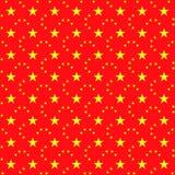 与中国传染媒介象征的无缝的圣诞节背景 库存例证