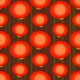 与中国灯的样式 免版税图库摄影