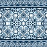 与中国装饰品牡丹的无缝的样式 皇族释放例证