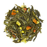 与中国Pai Mu Tan和Sencha的春日茶 库存照片