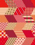 与之字形的秋天无缝的补缀品样式 缝制的设计 免版税库存图片