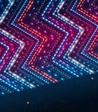 与之字形装饰品的抽象发光的背景。 图库摄影