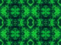 与之字形针细节的手被洗染的绿色织品 图库摄影