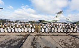 与乌克兰英雄的联合照片 免版税库存图片