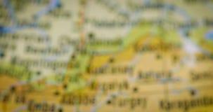 与乌兹别克斯坦国家地区地图的地球 股票视频