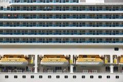 与乘客的巡航细节 挪威海湾 假日backgroun 免版税库存图片