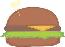 与书写板的简单的汉堡 免版税库存照片