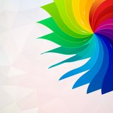 与书的五颜六色的背景呼叫彩虹 库存照片