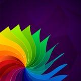 与书的五颜六色的背景呼叫彩虹 免版税库存照片