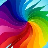 与书的五颜六色的背景呼叫彩虹 免版税图库摄影