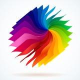 与书的五颜六色的背景呼叫彩虹 库存图片
