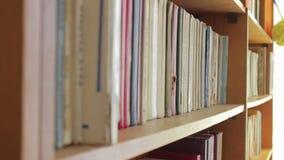 与书的图书馆架子 股票录像