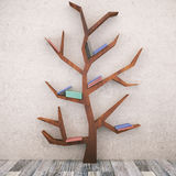 与书的抽象树 库存照片