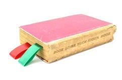 与书签的旧书 免版税库存照片