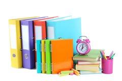 与书,笔记本的办公室文件夹 免版税库存图片