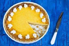 与乳清干酪的南瓜馅饼 库存图片