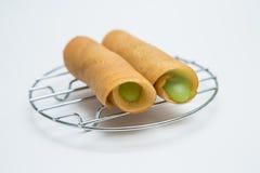 与乳蛋糕材料的泰国薄煎饼 库存图片