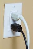 与二电缆的电子出口 库存图片